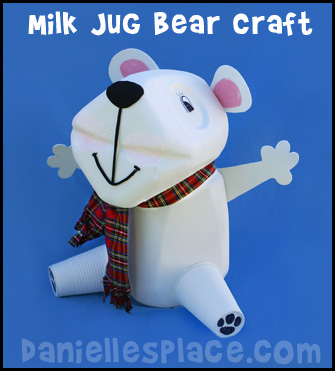 Milk Jug Bear Crafts www.daniellesplace.com