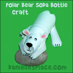 Polar Bear Bottle Craft for Kids from www.daniellesplace.com