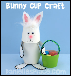 Easter Bunny Paper Cup Craft Kids Can Make
