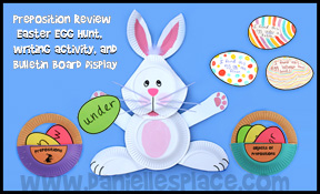 Easter Bunny Preposition Game and Bulletin Board Display