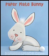 Paper Plate Bunny Craft Kids Can Make www.daniellesplace.com