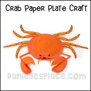 Crab Paper Plate Craft www.daniellesplace.com