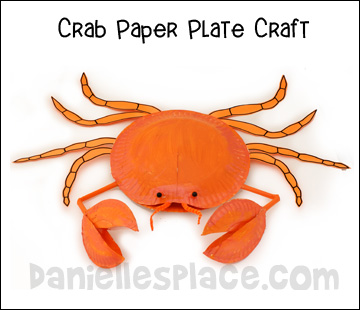 Paper Plate Crab Craft Kids Can Make www.daniellesplace.com
