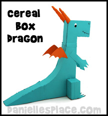 Dragon Cereal Box Craft Kids Can Make www.daniellesplace.com