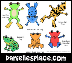 Frog Coloring and Activity Sheet from www.daniellesplace.com