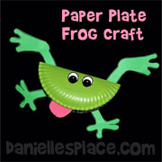 Frog Craft - Frog Paper Plate Craft from www.daniellesplace.com