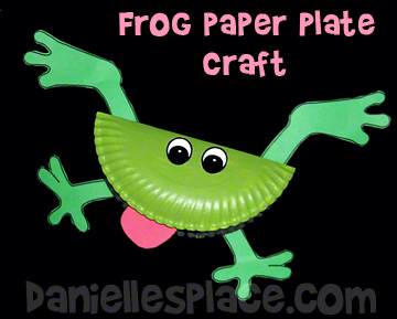 Frog Paper Plate Bible Craft for Sunday School  www.daniellesplace.com