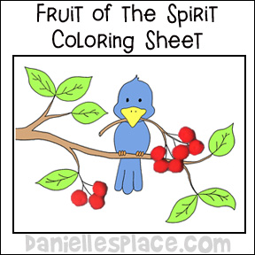 Fruit Bible Verse Activity Sheet www.daniellesplace.com