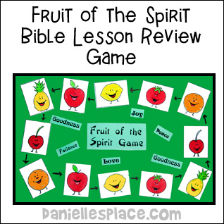 Fruit of the Spirit Bible Game for Sunday School and Children's Ministry from www.daniellesplace.com