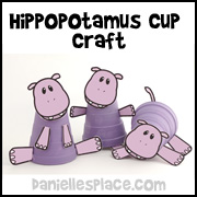 Hippopotamus Cup Craft for Kids