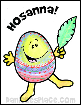 Hosanna Easter Eagg Activity Sheet www.daniellesplace.com