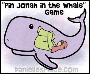 Pin Jonah in the Whale Bible Game for Sunday School www.daniellesplace.com