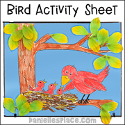 Mother Bird Picture Craft