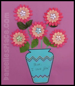Mother Day Vase and Flower Craft www.daniellesplace.com