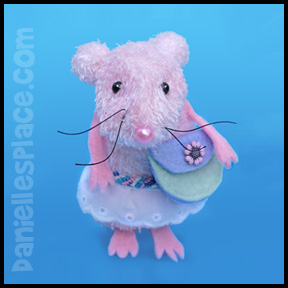El Raton the Mouse Tooth Fairy Sock Craft for Kids www.daniellesplace.com