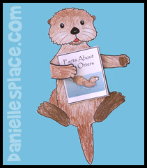 Otter holding a Book About Otter Craft for Kids www.daniellesplace.com