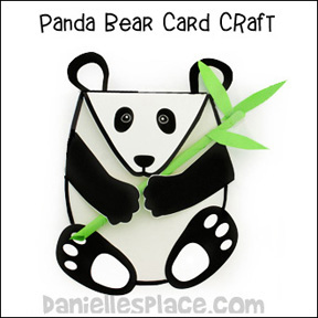 Panda Bear Card Craft www.daniellesplace.com