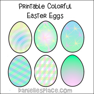 Printable Easter Eggs from www.daniellesplace.com. Now available for as an instant download.