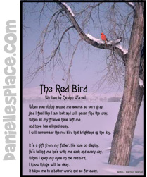 Red bird card and paper craft from www daniellesplace com