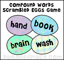 Compound Words Scrambled Eggs Game www.daniellesplace.com