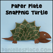 Snapping Turtle Paper Plate Craft www.daniellesplace.com