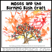 Burning Bush Picture Craft for Story of Moses Sunday School Lesson from www.daniellesplace.com