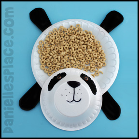 Panda Bear Craft - Snack Dishes www.daniellesplace.com
