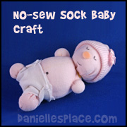 No-sew Sock Craft for Kids www.daniellesplace.com
