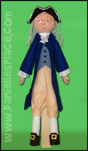 Benjamin Franklin Puppet Craft from www.daniellesplace.com