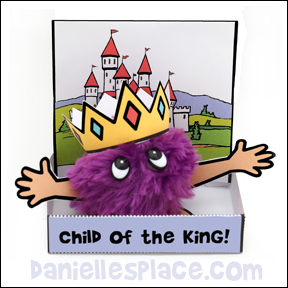 Child of the King Pom Pom Craft from www.daniellesplace.com