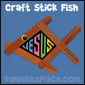 Craft Stick Fish Craft from www.daniellesplace.com www.daniellesplace.com