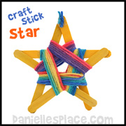 Yarn and Craft Stick Star