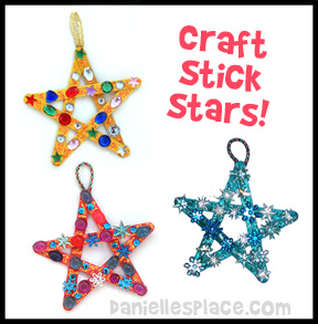 Craft stick Star Bible Craft for Sunday School from www.daniellesplace.com with star template www.daniellesplace.com