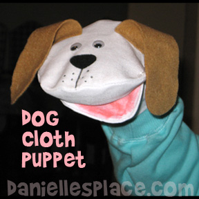 Dog Canvas Puppet Craft from www.daniellesplace.com