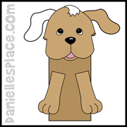 Dog Paper Bag Puppet www.daniellesplace.com
