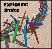 Exploding Snake Craft Stick Sin Object lesson