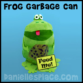 Frog Garbage Can Craft from www.daniellesplace.com