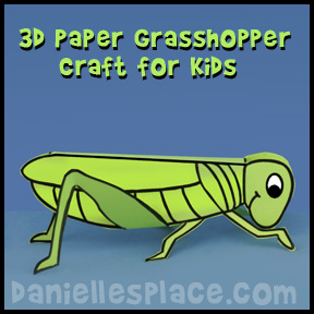 3D Grasshopper Craft for Children