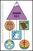 Isaiah 52:7 - Beautiful feet Bible Craft for Kids from www.daniellesplace.com