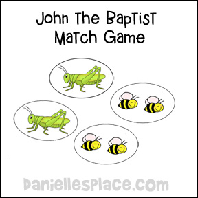 John the Baptist Match Game from www.daniellesplace.com