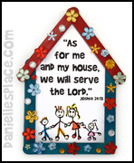 We Will Serve the Lord Craft Stick House Craft for Sunday School from www.daniellesplace.com