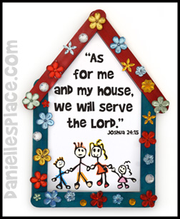"""We will serve the Lord"" Craft Stick Bible Craft for Sunday School from www.daniellesplace.com"