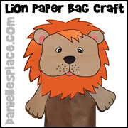 Lion Paper Bag Craft for Kids www.daniellesplace.com