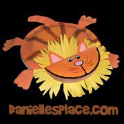 Lion Paper Plate Craft for Daniel in the Lion's Den Sunday School lesson from www.daniellesplace.com