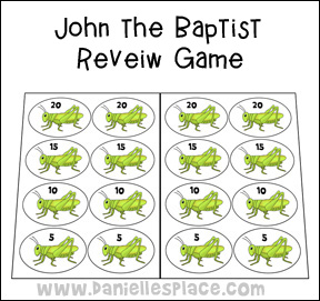 John the Baptist Review Game from www.daniellesplace.com
