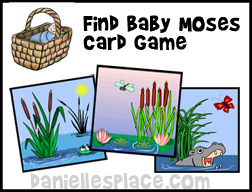 Find Baby Moses Card Game for Sunday School from www.daniellesplace.com