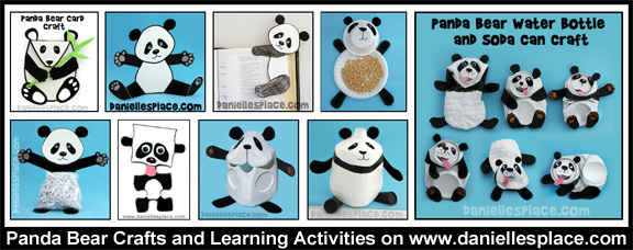Panda Bear Crafts and Learning Activities for Kids www.daniellesplace.com