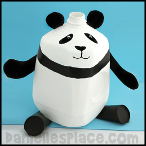 Panda Bear Milk Jug Craft www.daniellesplace.com