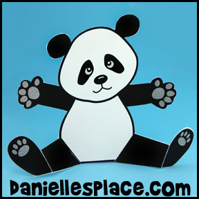 Panda Bear Paper Craft for Kids www.daniellesplace.com