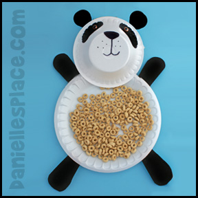 Panda Bear Craft - Paper Plate Snack Dish .daniellesplace.com & Panda Bear Crafts and Learning Activities for Kids
